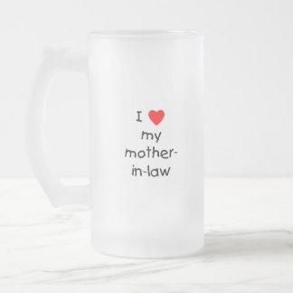 Amo a mi suegra taza de cristal