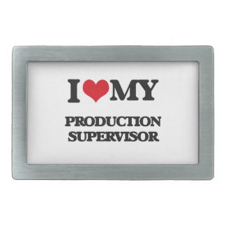 Amo a mi supervisor de la producción hebilla cinturon rectangular