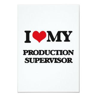"""Amo a mi supervisor de la producción invitación 3.5"""" x 5"""""""