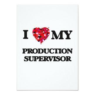 """Amo a mi supervisor de la producción invitación 5"""" x 7"""""""