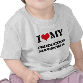 Amo a mi supervisor de la producción camiseta