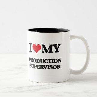 Amo a mi supervisor de la producción tazas