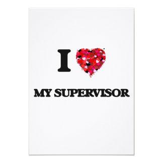 """Amo a mi supervisor invitación 5"""" x 7"""""""