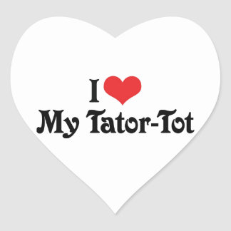 Amo a mi Tator-Bebé Pegatina En Forma De Corazón