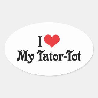 Amo a mi Tator-Bebé Pegatina Ovalada