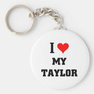 Amo a mi Taylor Llavero Redondo Tipo Pin
