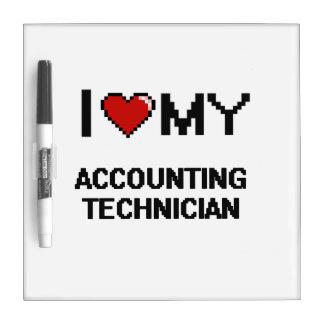 Amo a mi técnico de la contabilidad pizarras blancas