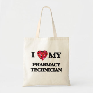 Amo a mi técnico de la farmacia bolsa tela barata