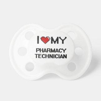 Amo a mi técnico de la farmacia chupete de bebe