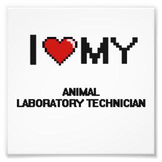 Amo a mi técnico de laboratorio animal impresión fotográfica