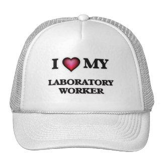 Amo a mi técnico de laboratorio gorros bordados