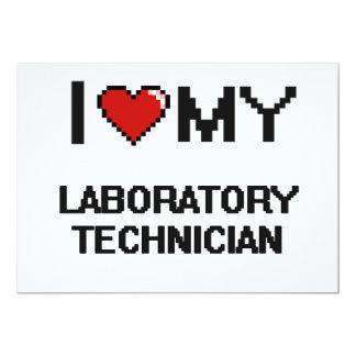 Amo a mi técnico de laboratorio invitación 12,7 x 17,8 cm