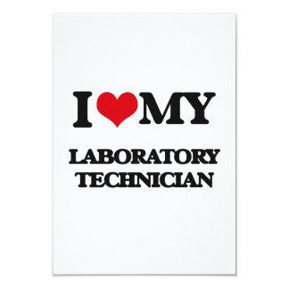 Amo a mi técnico de laboratorio invitación 8,9 x 12,7 cm