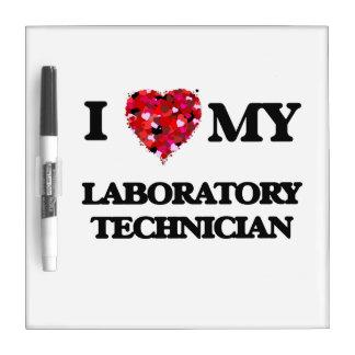 Amo a mi técnico de laboratorio pizarras blancas