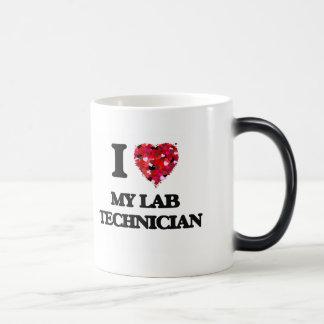 Amo a mi técnico de laboratorio taza mágica