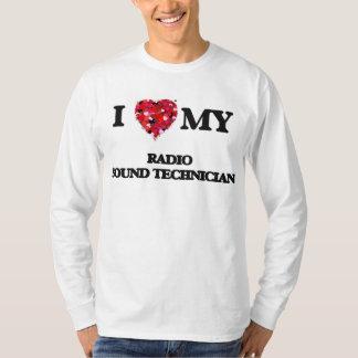 Amo a mi técnico sano de radio camisas