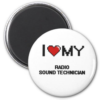 Amo a mi técnico sano de radio imán redondo 5 cm
