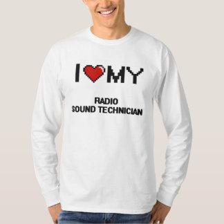 Amo a mi técnico sano de radio remeras