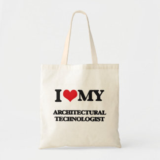 Amo a mi tecnólogo arquitectónico bolsa de mano