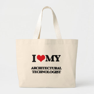 Amo a mi tecnólogo arquitectónico bolsa