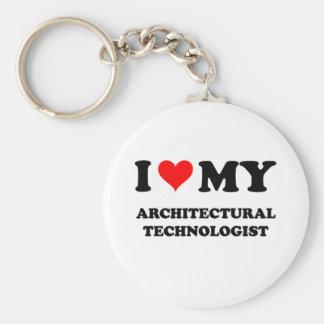 Amo a mi tecnólogo arquitectónico llavero