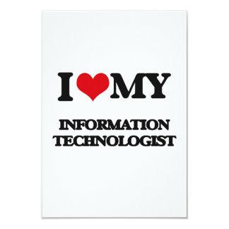 """Amo a mi tecnólogo de la información invitación 3.5"""" x 5"""""""