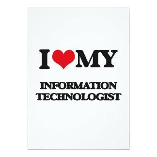 """Amo a mi tecnólogo de la información invitación 5"""" x 7"""""""
