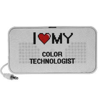 Amo a mi tecnólogo del color PC altavoces
