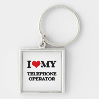 Amo a mi telefonista llaveros