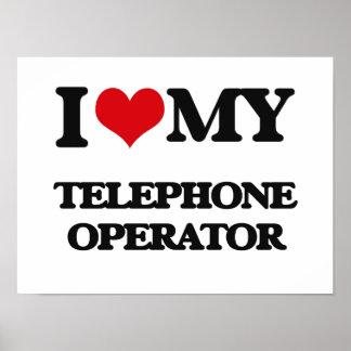 Amo a mi telefonista impresiones