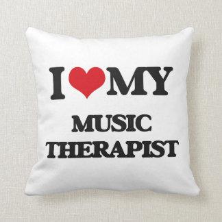 Amo a mi terapeuta de la música cojines