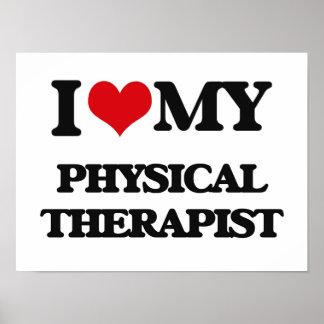 Amo a mi terapeuta físico impresiones