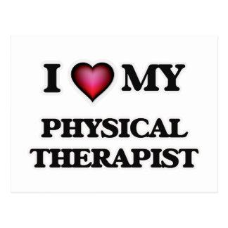 Amo a mi terapeuta físico tarjetas postales