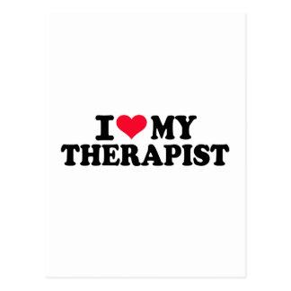 Amo a mi terapeuta postales