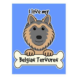 Amo a mi Tervuren belga Postal