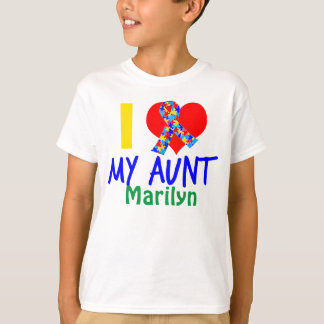 Amo a mi tía Autism Awareness Playera