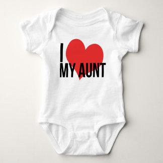Amo a mi tía Baby Shirt Mameluco De Bebé
