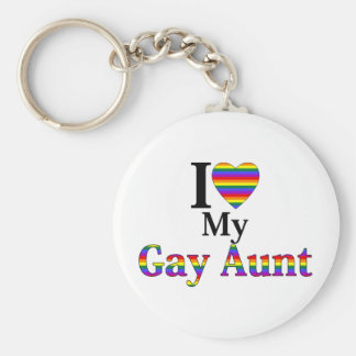 Amo a mi tía gay llavero redondo tipo pin