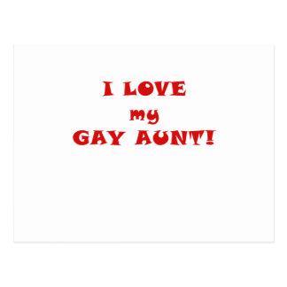 Amo a mi tía gay postal