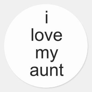 amo a mi tía pegatinas redondas