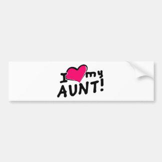 ¡Amo a mi tía! Pegatina Para Auto