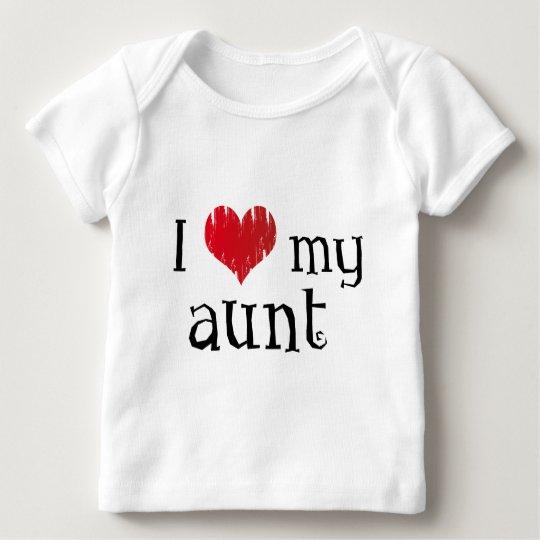Amo a mi tía playera de bebé