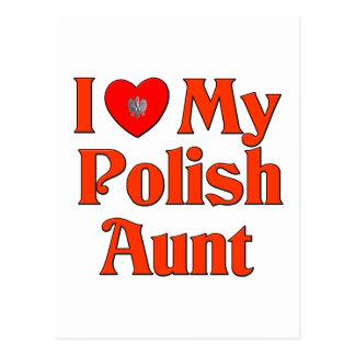 Amo a mi tía polaca postal