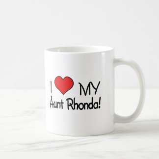 ¡Amo a mi tía Rhonda! Taza Clásica