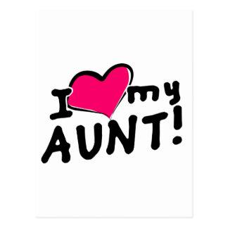 ¡Amo a mi tía! Tarjetas Postales