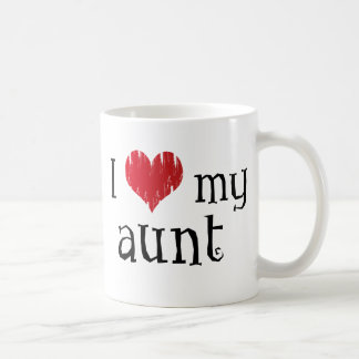 Amo a mi tía taza básica blanca