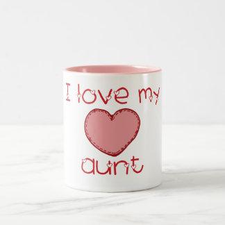 Amo a mi tía taza de dos tonos