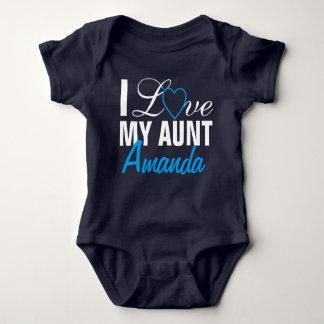 Amo a mi Tía- tía Name. Por encargo Body Para Bebé