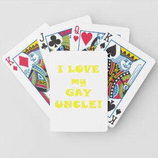 Amo a mi tío gay baraja de cartas bicycle