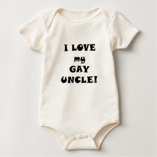 Amo a mi tío gay body para bebé